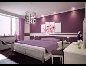 tranh dán tường màu tím