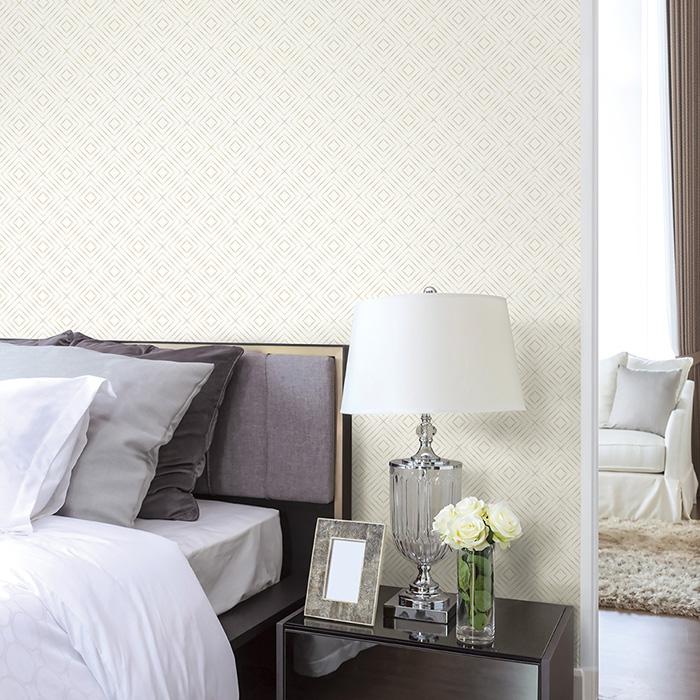 dùng giấy dán tường cho phòng ngủ