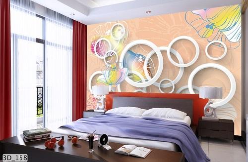 Giấy dán tường 3D phòng ngủ mã số 3D_158