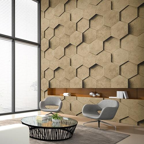 giấy dán tường màu nâu tạo không gian yên tĩnh