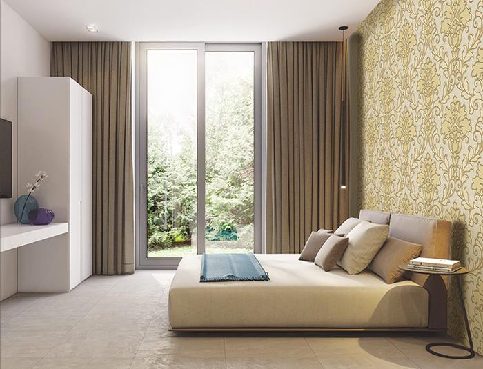 lựa chọn giấy dán tường phòng ngủ sang trọng