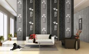 Giấy dán tường trắng và đen 9642-2