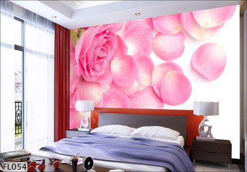Giấy dán tường 3D cho phòng ngủ  vợ chồng