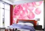 Giấy dán tường 3D màu hồng: FL0543
