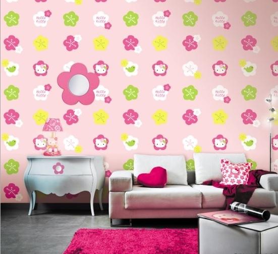 Giấy dán tường màu hồng MS: H6029-1