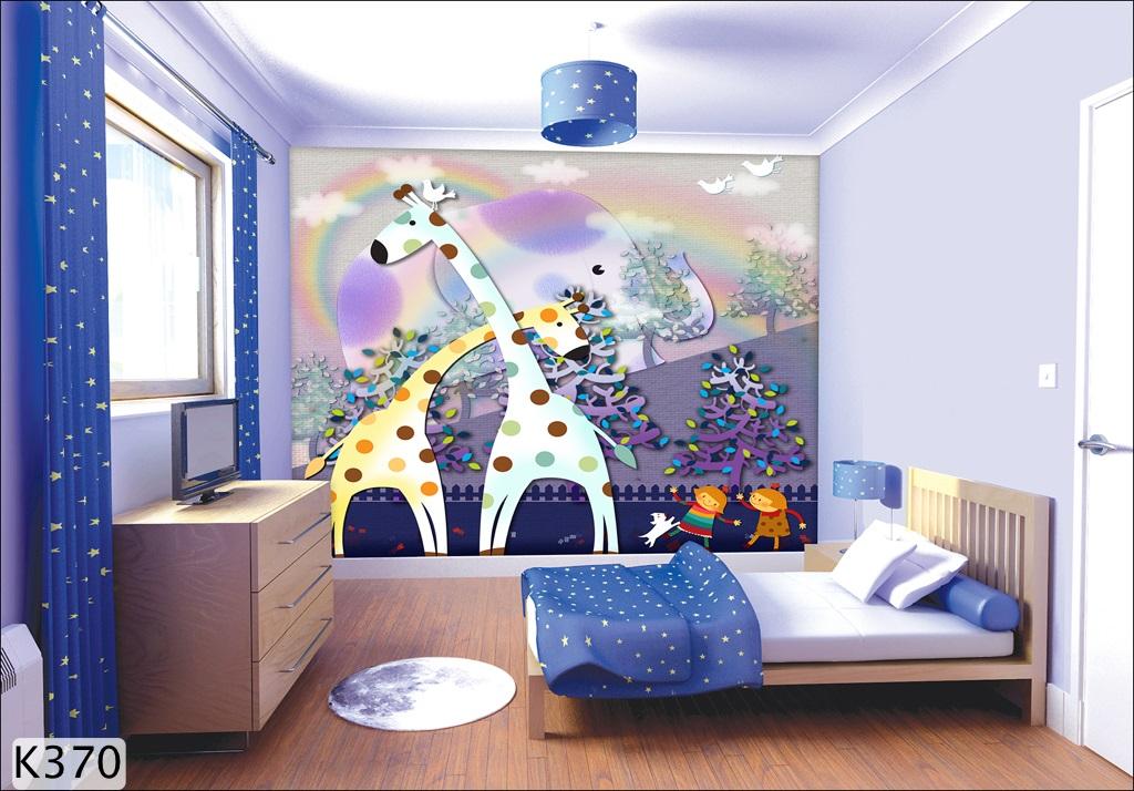 giấy dán tường 3D cho phòng trẻ em