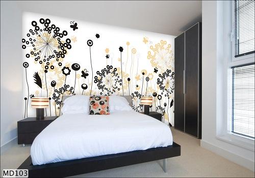 Giấy dán tường 3D phòng ngủ mã số: MD103