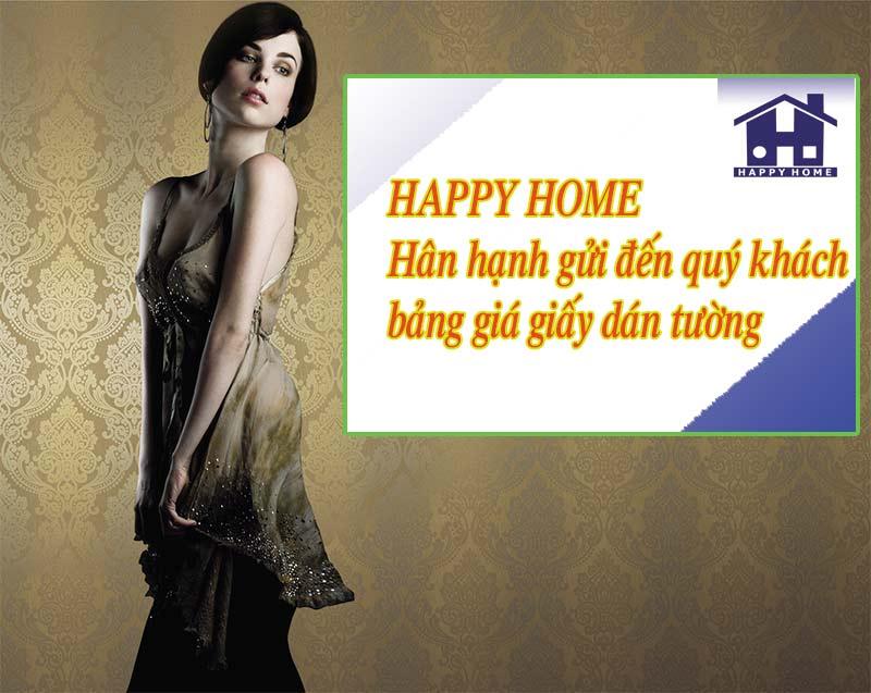 bảng giá giấy dán tường của happy home