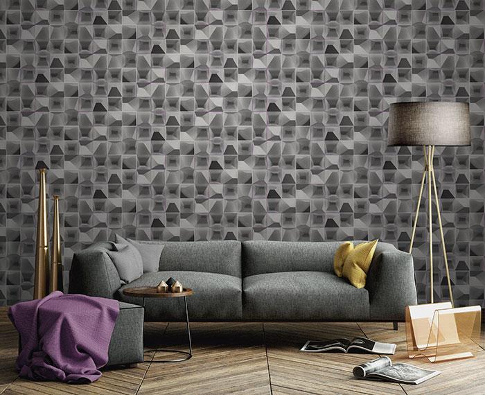 giấy dán tường phòng khách đẹp
