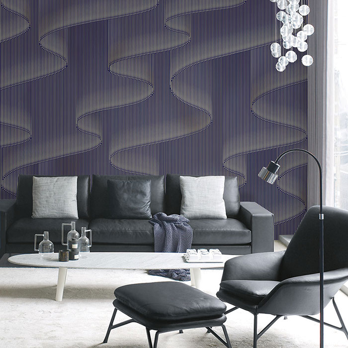 Giấy dán tường phòng khách hiện đại