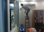 thi công giấy dán tường tại âu cơ