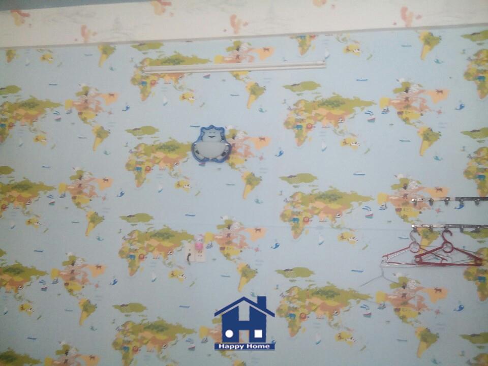 Giấy dán tường happy home, thi công Giấy dán tường, Giấy dán tường giá rẻ