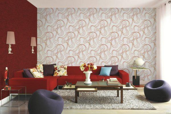 mẫu giấy dán tường cho phòng khách