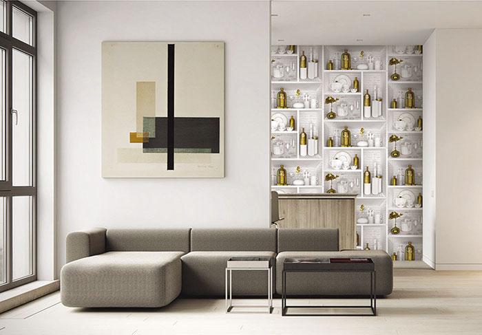 giấy dán tường phòng khách giá bao nhiêu
