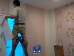 Happy Home thi công giấy dán tường tại công trình Thép Mới quận Tân Bình