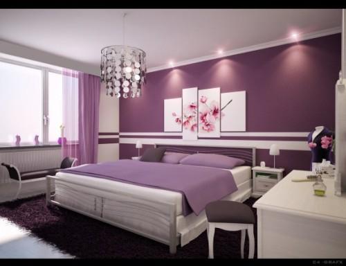 giấy dán tường màu tím sang trọng