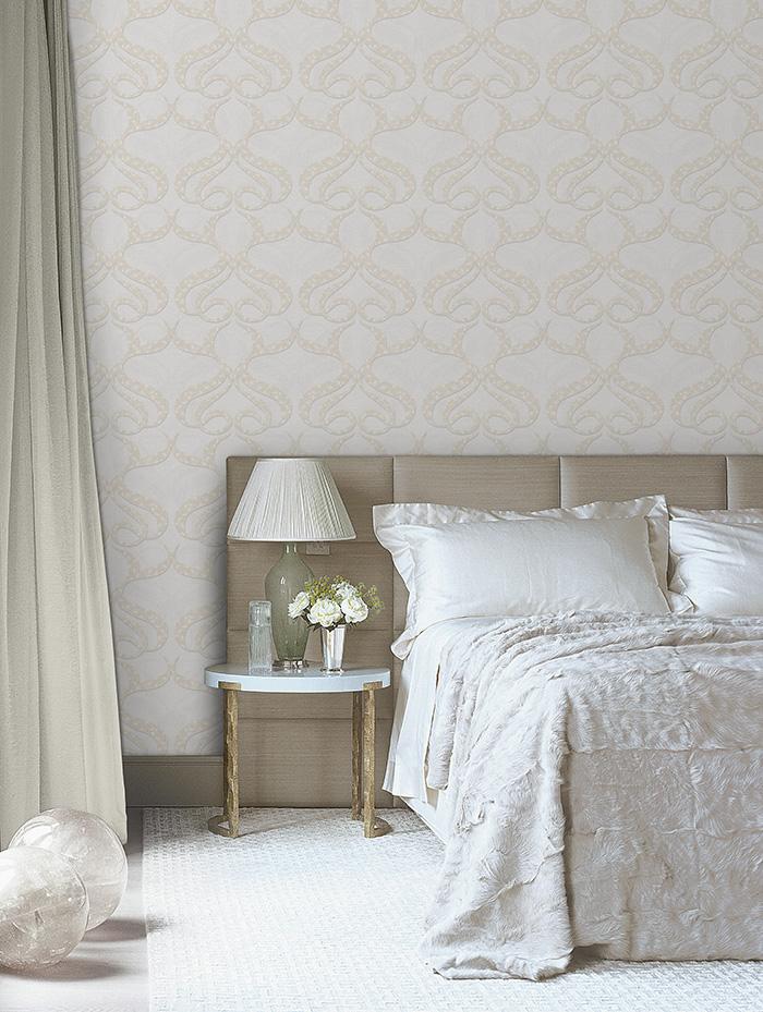 mẫu giấy dán tường cho phòng ngủ sang trọng