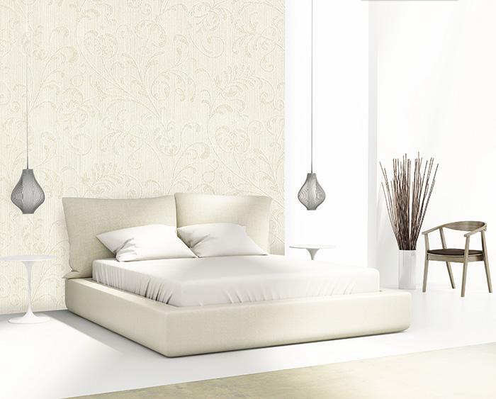 phòng ngủ trang trí giấy dán tường