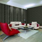 Giấy dán tường phòng khách cho căn hộ chung cư