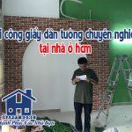 Thi công giấy dán tường chuyên nghiệp tại nhà ở HCM