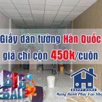 Happy Home tri ân khách hàng, giấy dán tường Hàn Quốc khuyến mãi giá chỉ còn 450.000vnđ