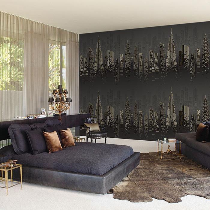 sử dụng giấy dán tường cho phòng ngủ