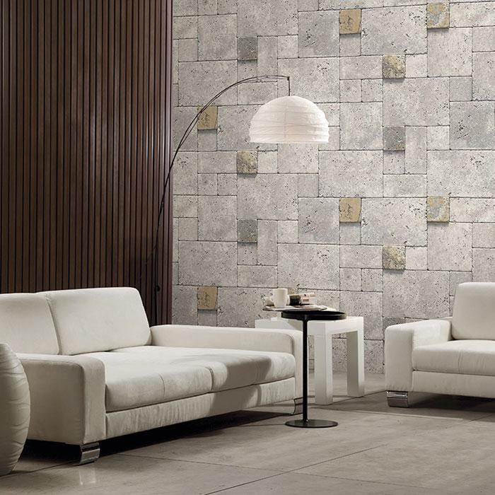 giấy dán tường phòng khách happy home