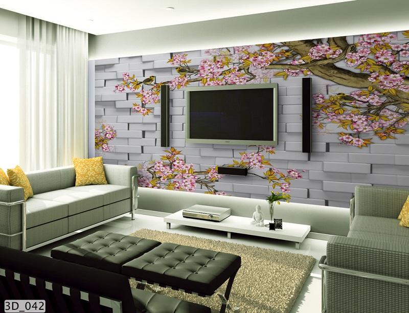 giấy dán tường 3d phong cách