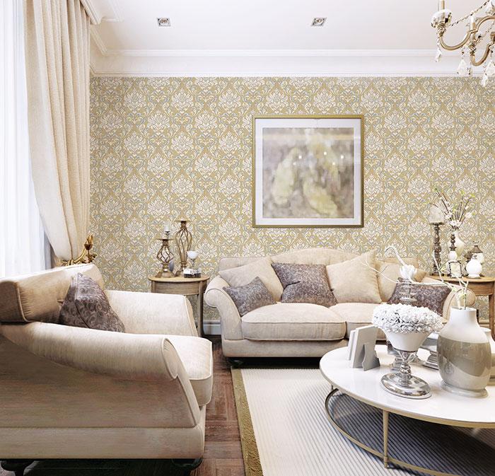 giấy dán tường cho phòng khách đẹp