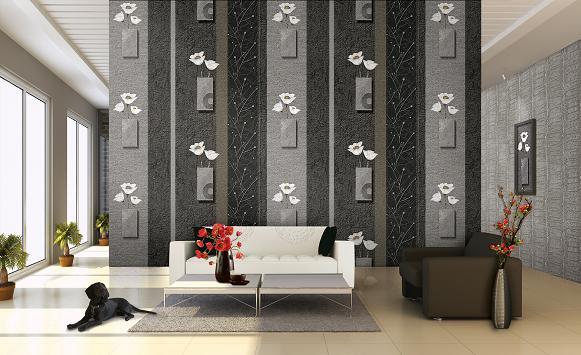 giấy dán tường trắng đen