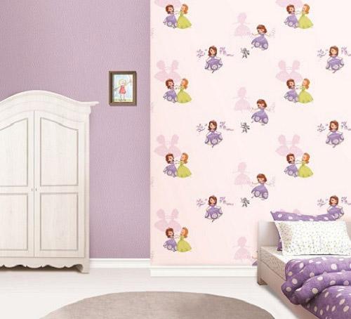 Giấy dán tường tông màu tím