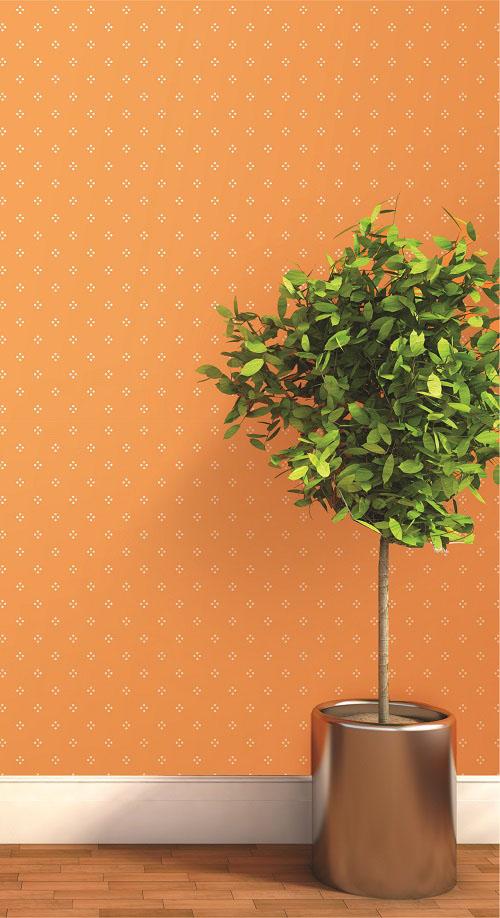 Giấy dán tường màu cam