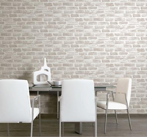 Giấy dán tường màu xám rất phù hợp với người mệnh Kim