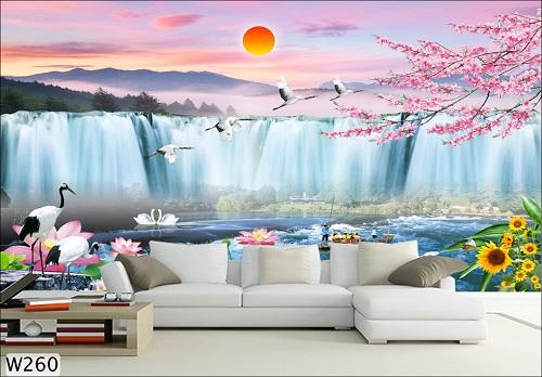 Giấy dán tường 3D cho phòng khách