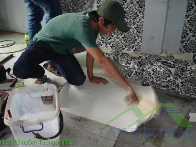 cách lăn keo lên giấy