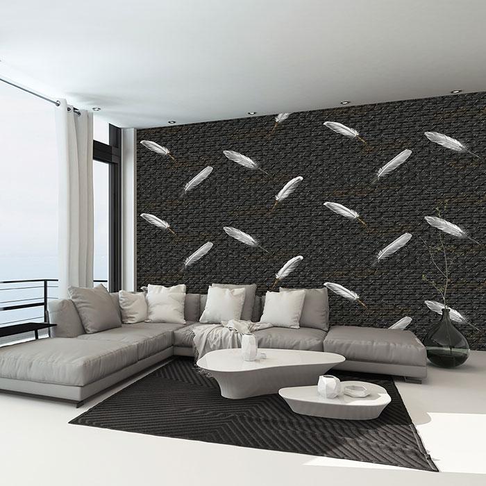 giấy dán tường cho phòng khách hẹp