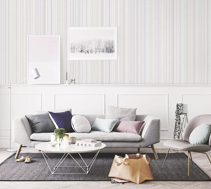 giấy dán tường cho phòng khách nhỏ