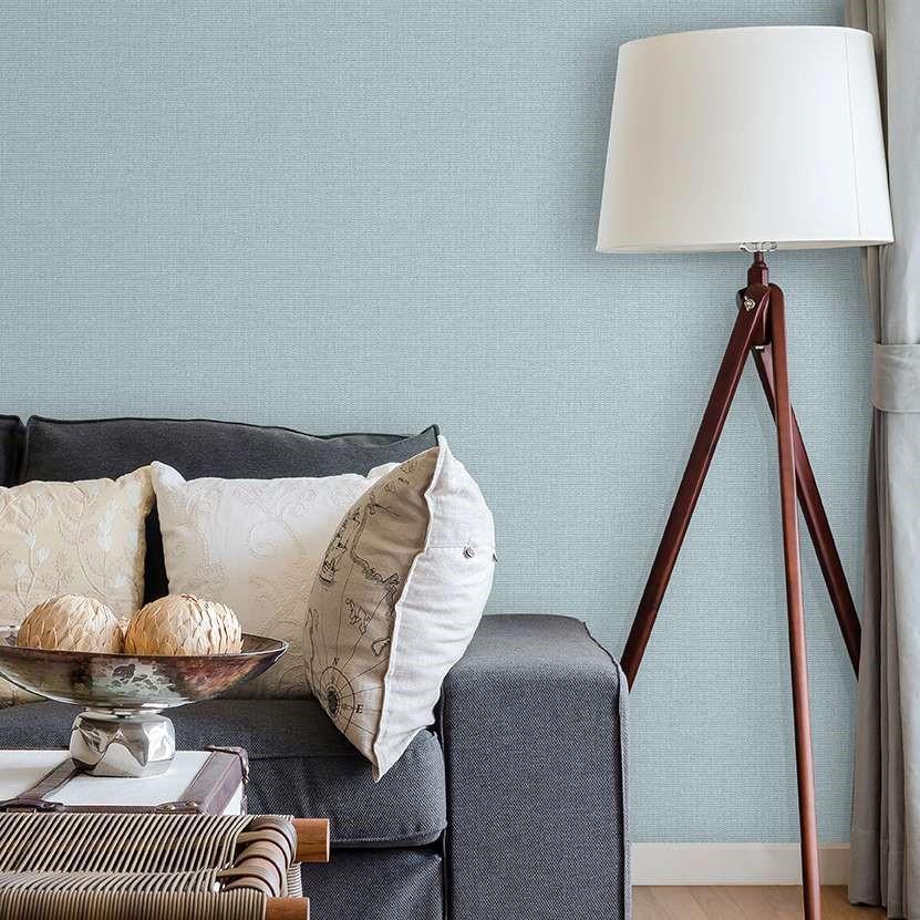 giấy dán tường gam màu xanh