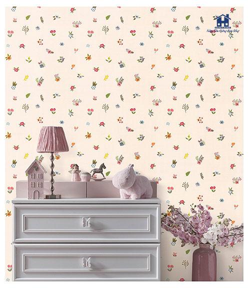 giấy dán tường bông hoa cho bé