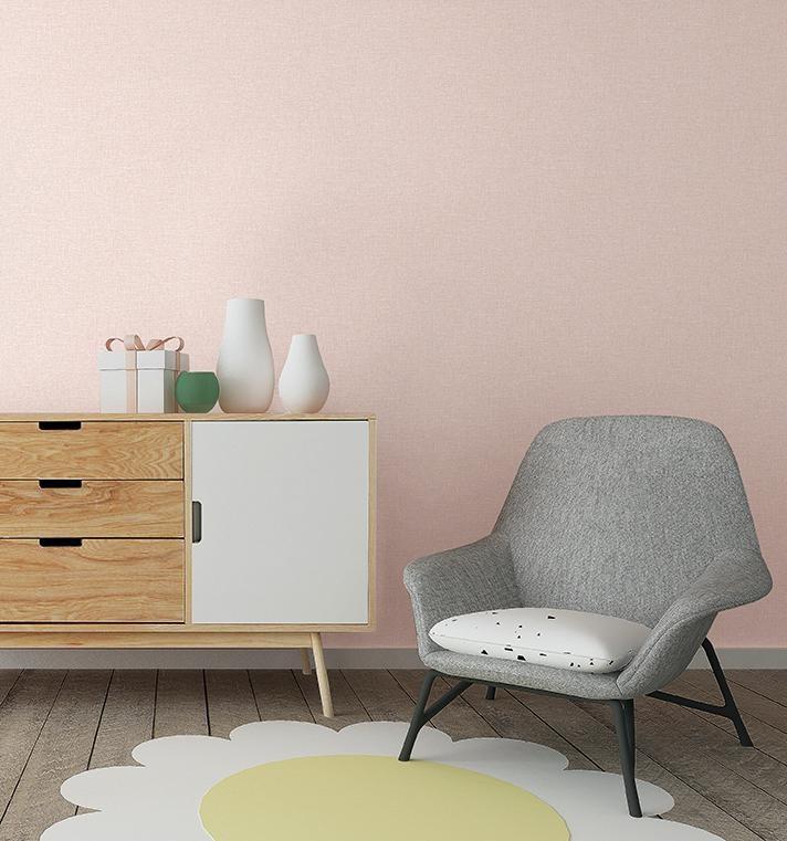 giấy dán tường màu hồng trơn