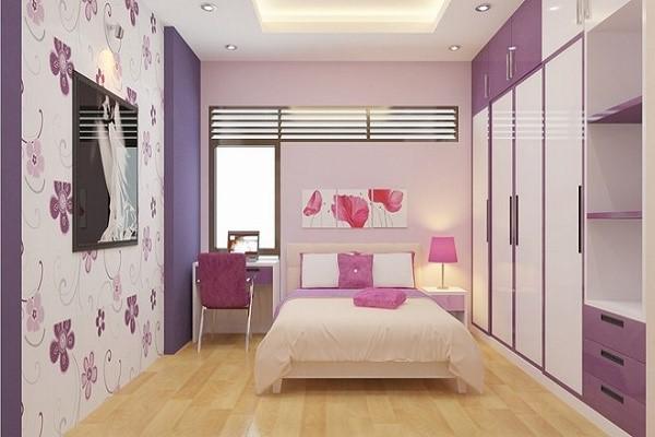 chọn giấy dán tường đẹp cho phòng ngủ nhỏ