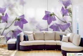 giấy dán tường có hoa màu tím