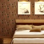 Giấy dàn tường phòng ngủ