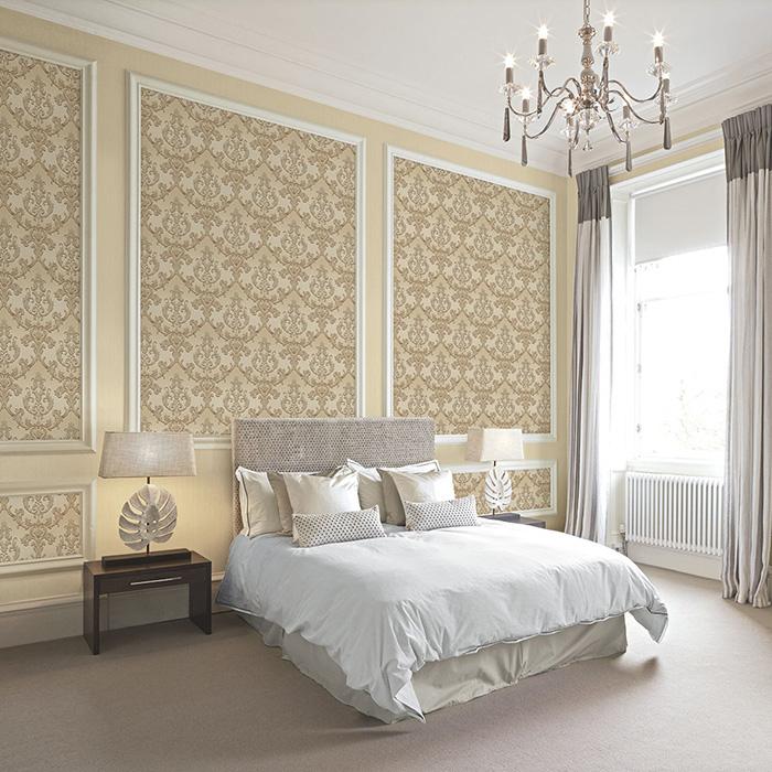 sử dụng giấy dán tường trang trí phòng ngủ