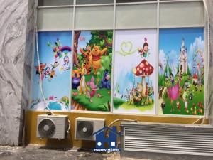 thi công giấy dán tường cho khu vui chơi trẻ em Chung cư Tân Hương, Q. Tân Phú