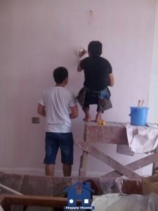 Happy Home thi công giấy dán tường, thi công giấy dán tường, giấy dán tường, giấy dán tường khách sạn, giấy dán tường Happy Home